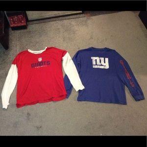 2 NY Giants long sleeved shirts